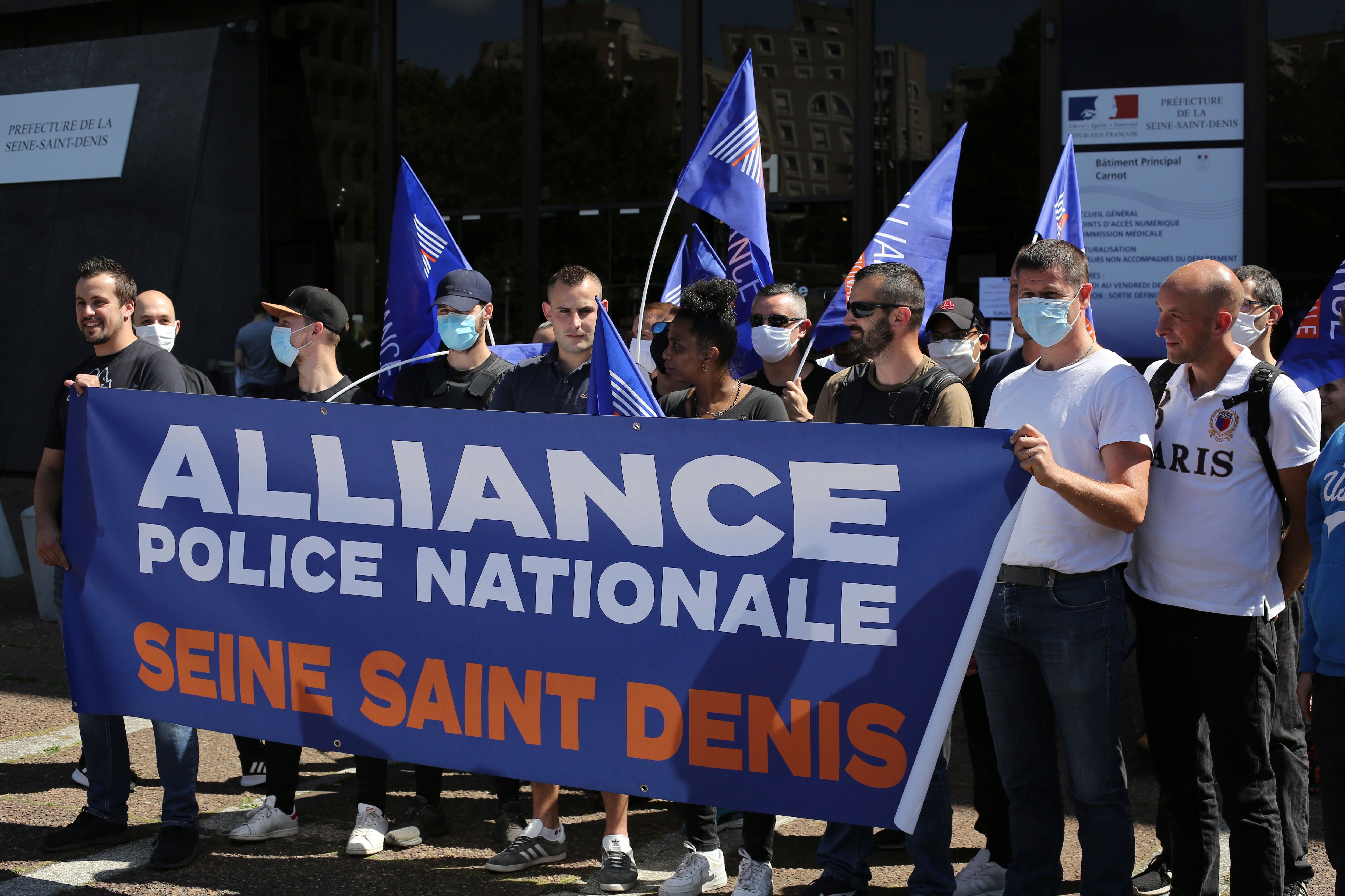 In France, Police Stage Counter Protests
