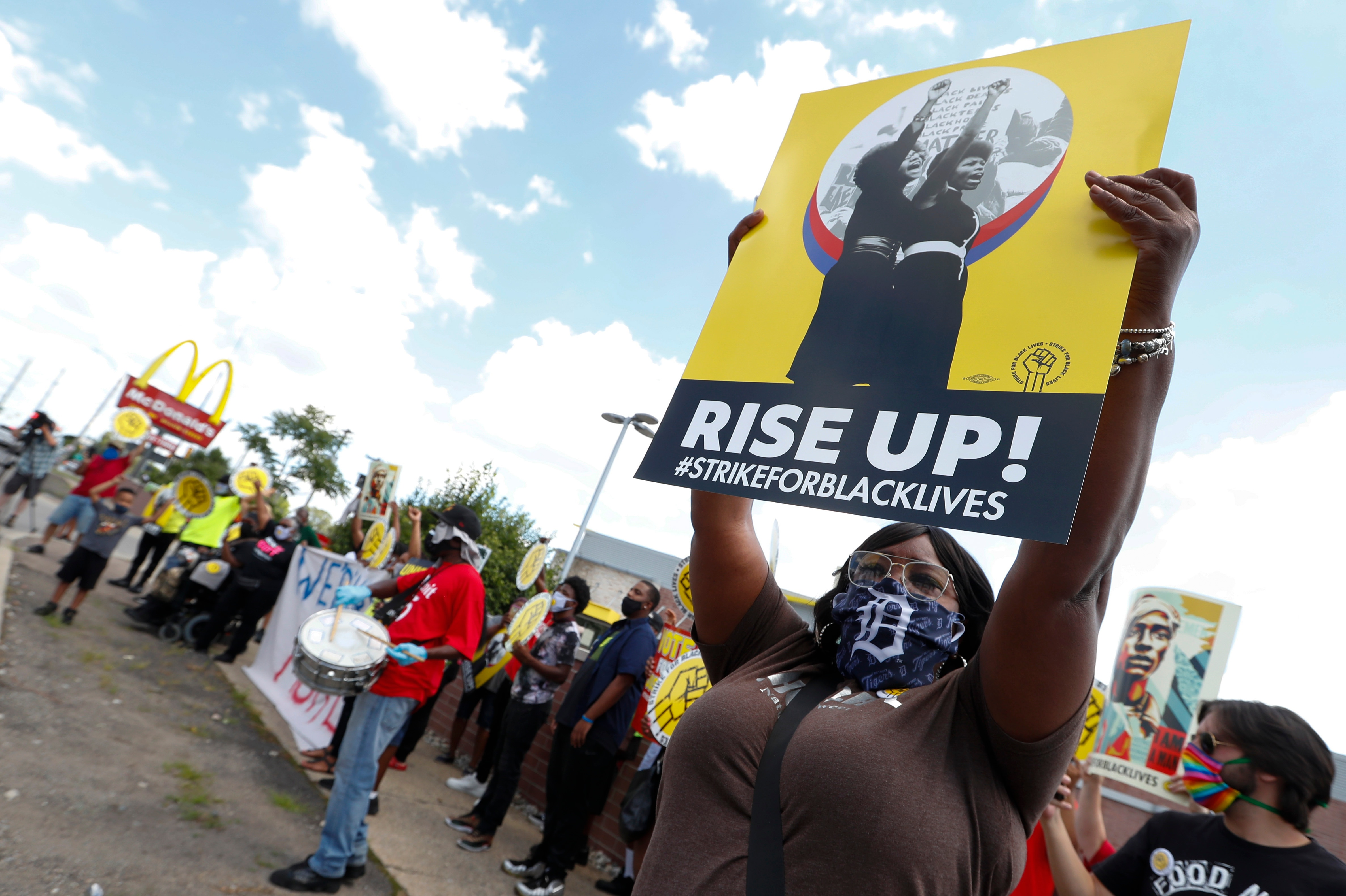 www.voanews.com: US Workers Protest Racial Inequality on Day of National Strike
