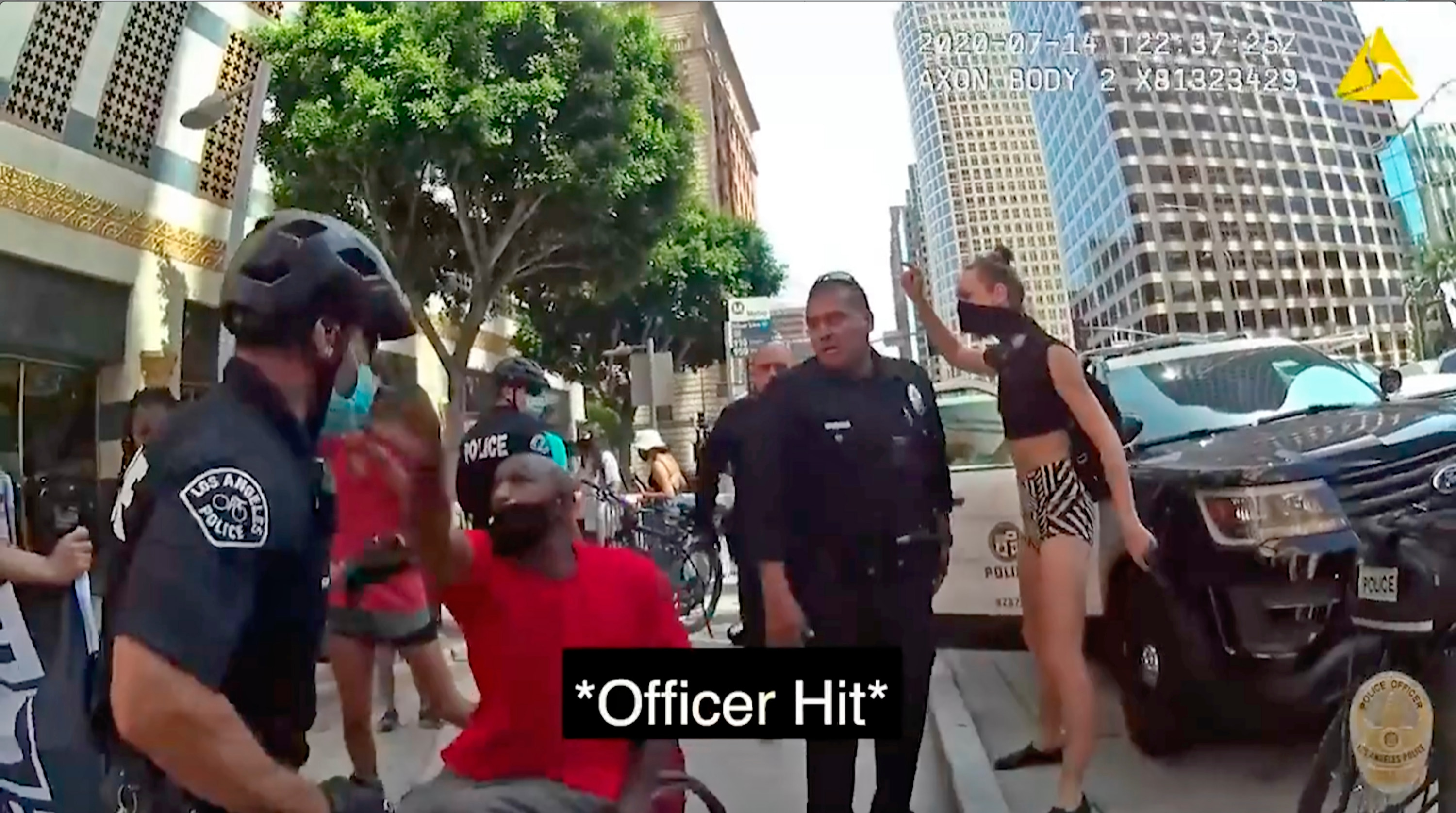 www.voanews.com: LA Police Release Video Showing Uses of Force During Protest