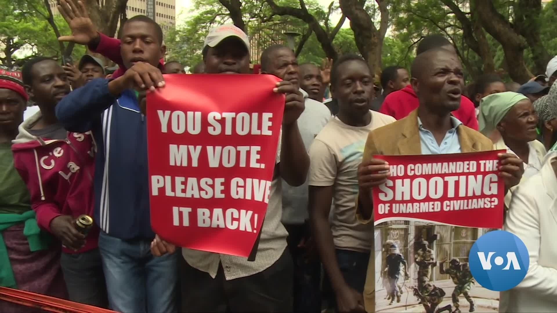 Zimbabweans Mark Anniversary of Army-led Shootings