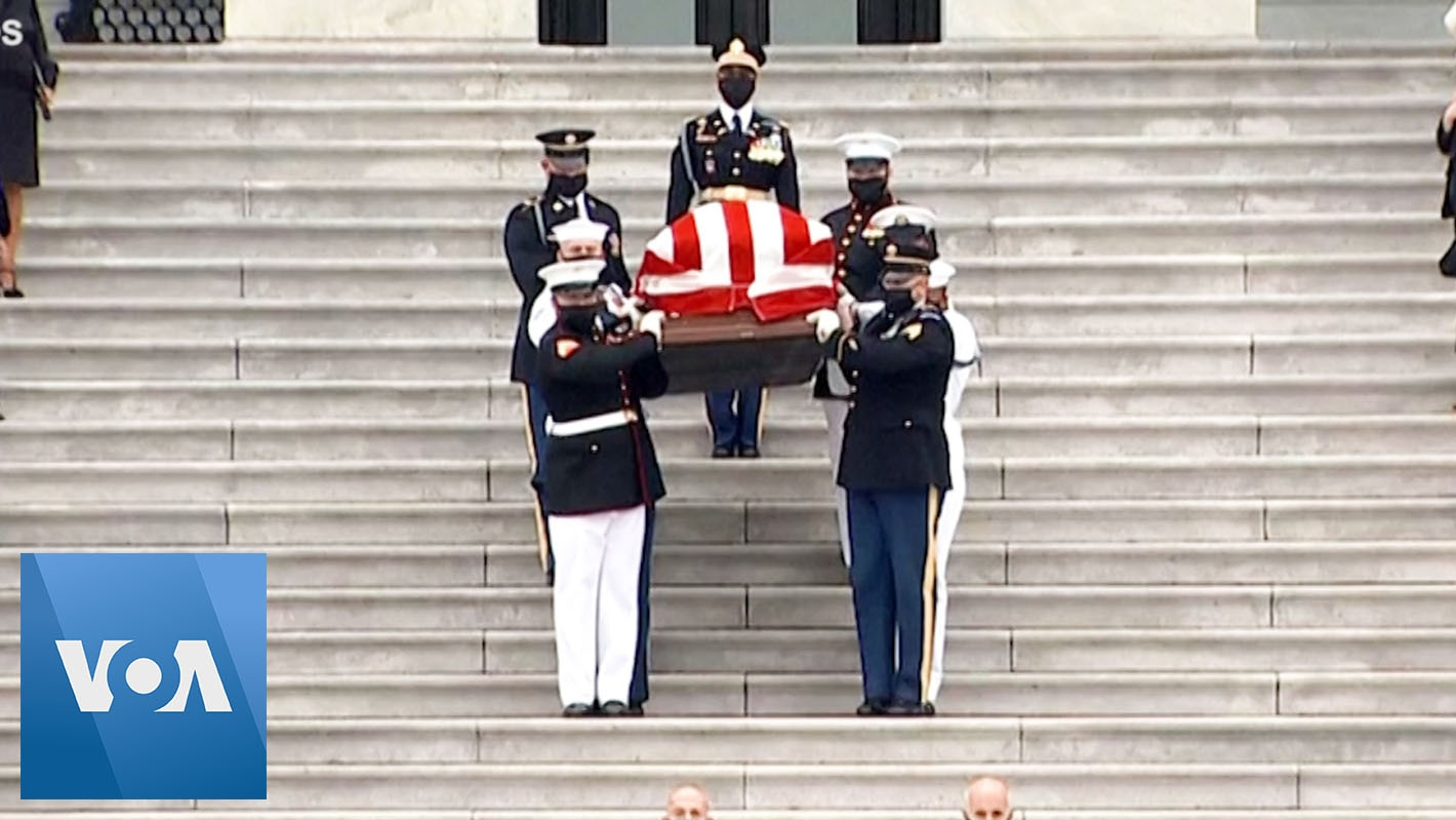 Ginsburg Leaves Capitol for Final Journey to Arlington National Cemetery