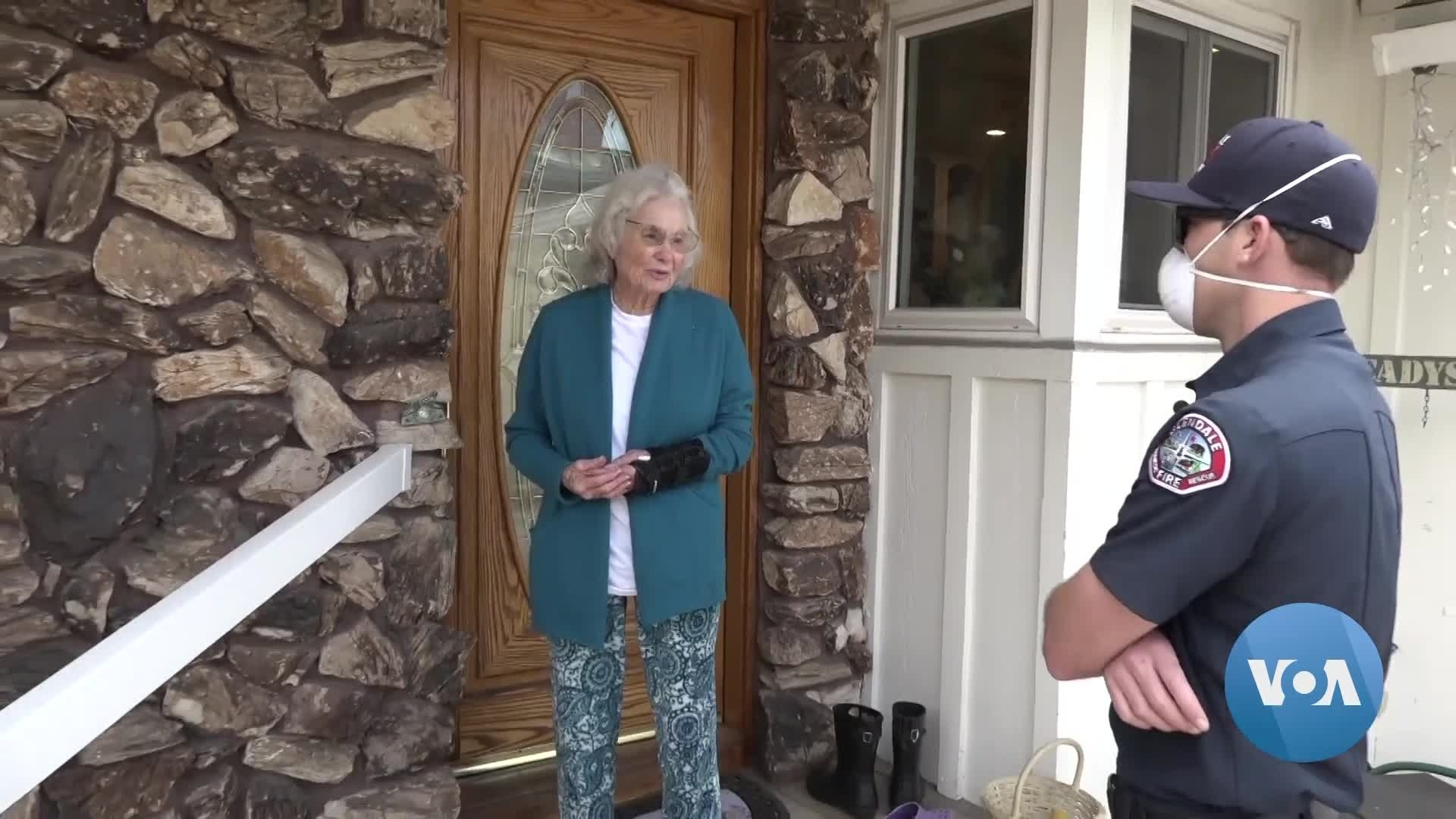 Firefighters Deliver Groceries to Elderly Amid Pandemic
