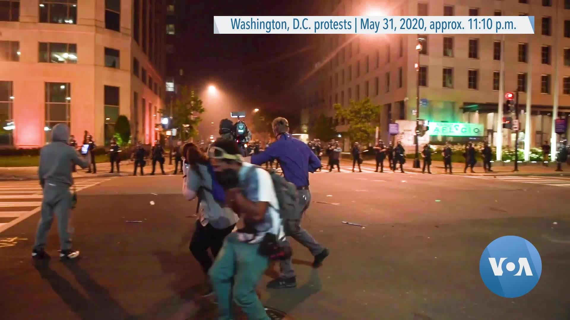 Projectile Fired in DC Protest