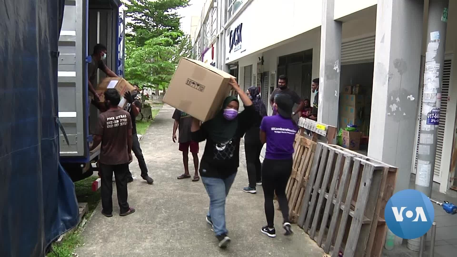 COVID Struck Area in Malaysia Gets Help from Donors, Volunteers