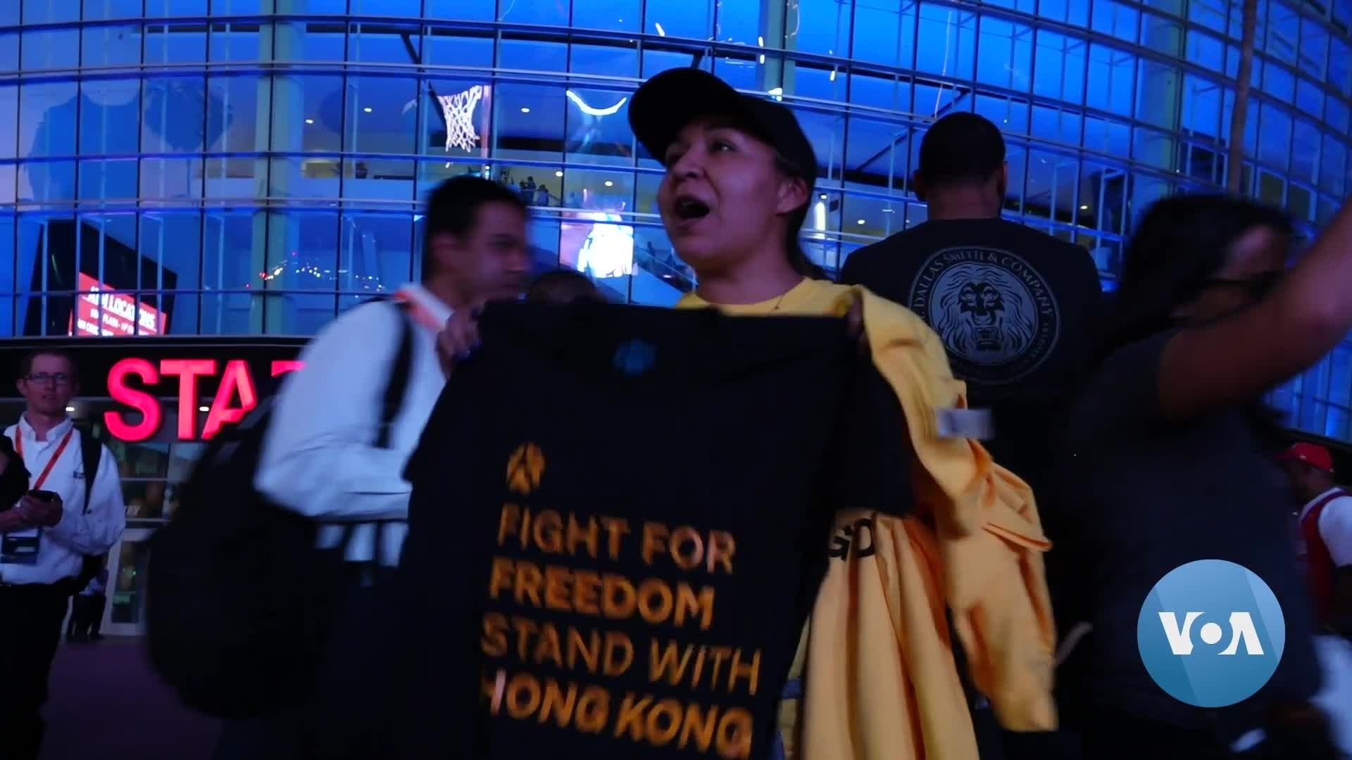 Hong Kong Supporters Try to Make a Statement at First NBA Game of the Season