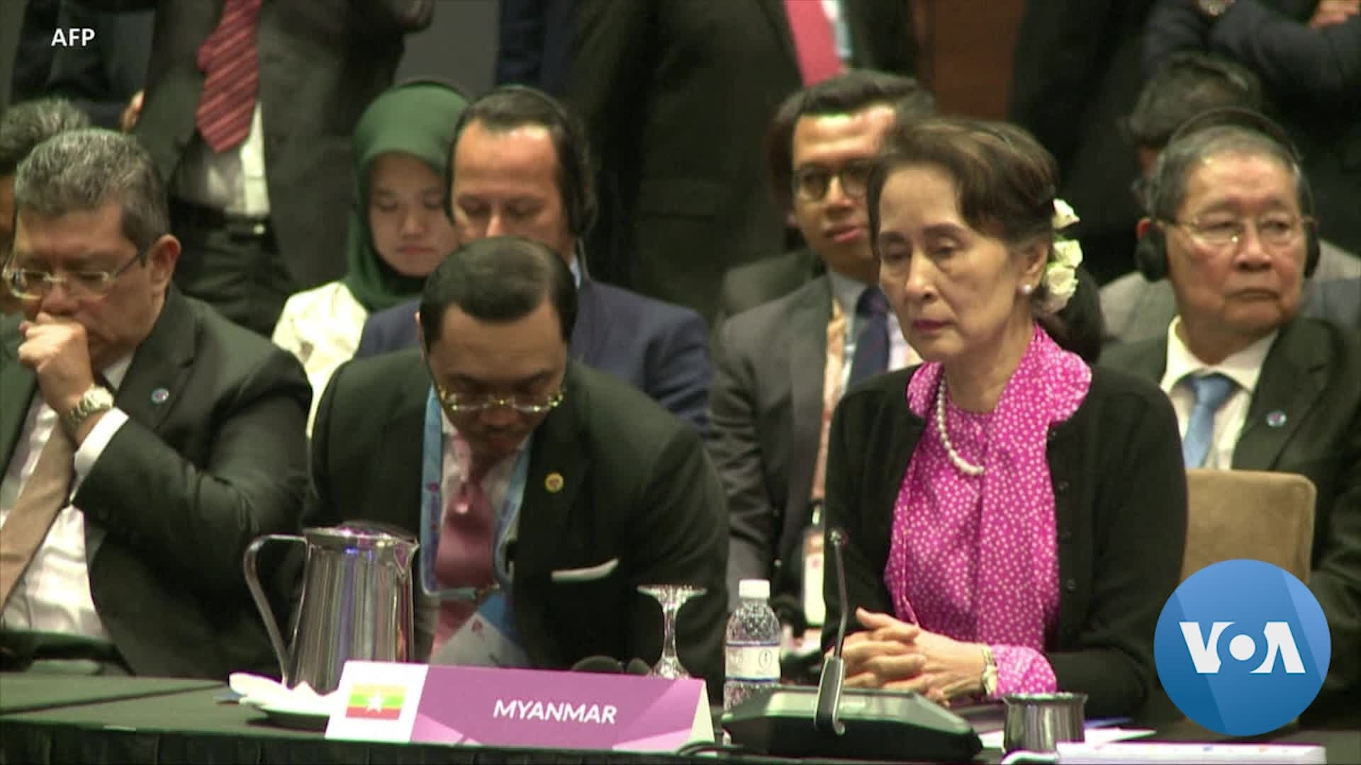 Aung San Suu Kyi Appears in Hague to Defend Myanmar Against Genocide Charges