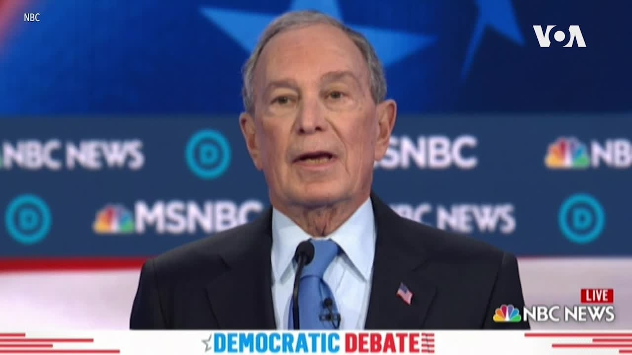 Bloomberg Roughed Up in First Democratic Debate