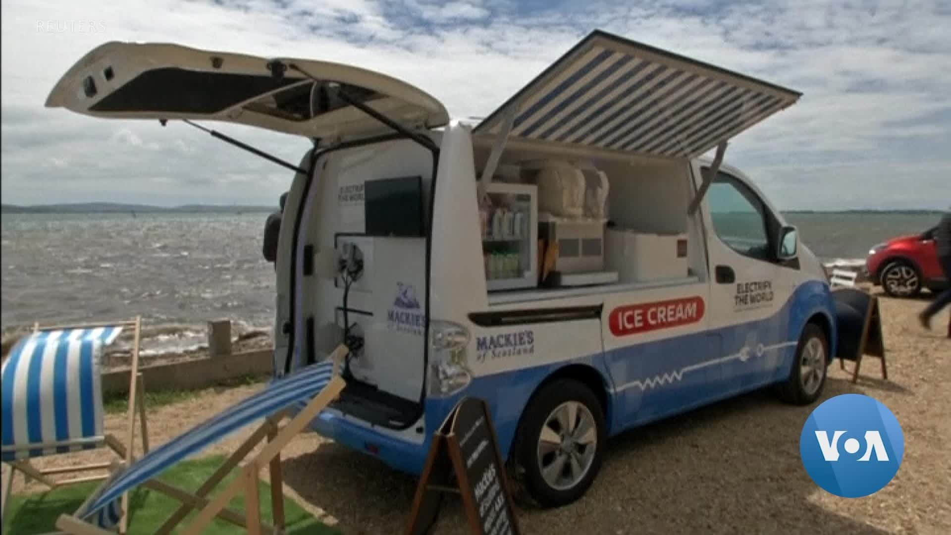 Electric Ice Cream Van Fights Air Pollution