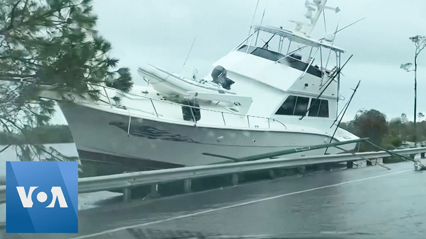 Boats Brought Ashore by Hurricane Sally's Storm Surge
