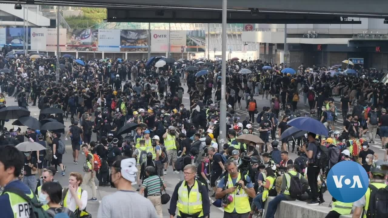 Smaller Protests on 19th Week of Hong Kong Demonstrations