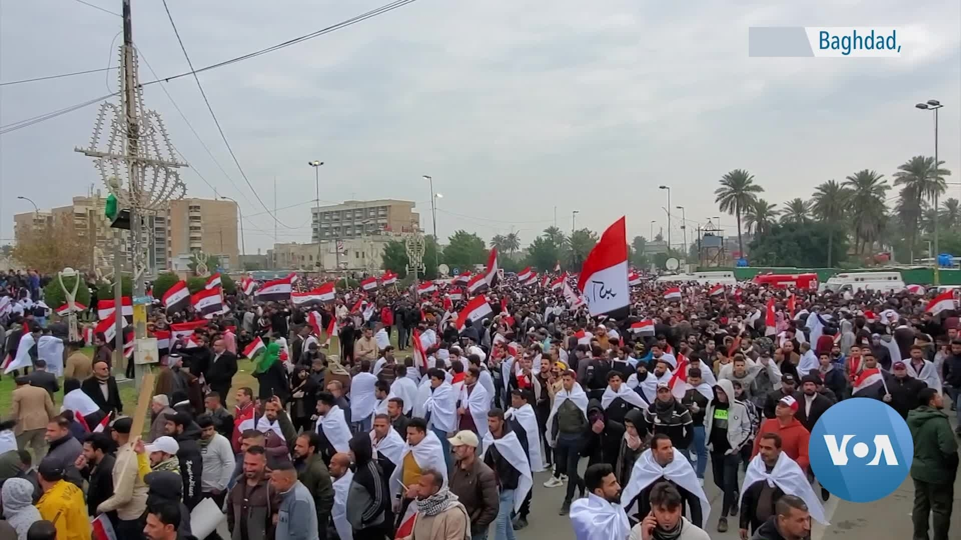 Iraqi's Protest US Military Presence