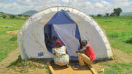 Many of the Nigerian refugees are living in tents or makeshift shelters in host communities. Photo: Ntaryike Divine Jr./VOA