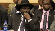 South Sudan's President Salva Kiir attends a session during the 25th Extraordinary Summit of the Inter-Governmental Authority on Development (IGAD) on South Sudan in Ethiopia's capital Addis Ababa, March 13, 2014.