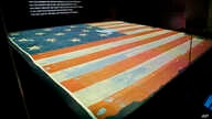 The Smithsonian's National Museum of American History exhibit of the flag that inspired the national anthem 'Star-Spangled Banner',  Sept. 5, 2014, in Washington, D.C.