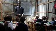 Children in Mathare studying at a private non-formal school, one of around 120 in the slum, Nairobi, Kenya, June 2, 2015. (Hilary Heuler / VOA)
