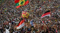 Ethiopians rally in solidarity with Prime Minister Abiy Ahmed in Meskel Square in the capital, Addis Ababa, Ethiopia, June 23, 2018. A deadly explosion struck the huge rally for Ethiopia's reformist new prime minister on Saturday shortly after he spo