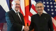 U.S. Secretary of State Rex Tillerson, left, and Thai Foreign Minister Don Pramudwinai pose for a photograph during meeting at the Foreign Ministry in Bangkok, Thailand, Aug. 8, 2017.