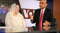 Khizr and Ghazala Khan, the parents of an Army captain killed in Iraq, speak with VOA in Washington, D.C., August 1, 2016. (Brian Allen/VOA)