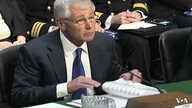 Defense Secretary Chuck Hagel during a hearing Wednesday on Capitol Hill, March 5, 2014.