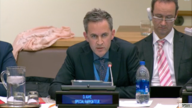 FILE - U.N. Special Rapporteur on freedom of opinion and expression David Kaye speaks about the safety of journalists in a speech to the 3rd Committee of the U.N. General Assembly in New York, Oct. 22, 2018. (screengrab from U.N. video)