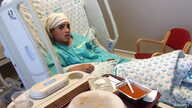 Thirteen-year-old Ahmed Manasra, sits in his hospital bed at Hadassah hospital in Jerusalem in this handout picture released from the Israeli Government Press Office Oct. 15, 2015.