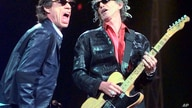 "FILE - Mick Jagger, left, and Keith Richards perform ""Jumping Jack Flash"" during the Rolling Stones' No Security Tour performance at the Fleet Center in Boston on March 22, 1999. They will be performing at  Desert Trip, starting Friday in Indio, Cali..."