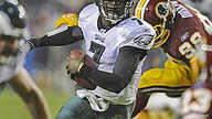Vick Leads Eagles in Record-Setting NFL Rout of Redskins