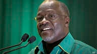 FILE - John Pombe Magufuli, presidential candidate of the ruling Chama Cha Mapinduzi party in Tanzania.