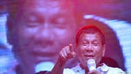 Philippine presidential candidate and Davao city mayor Rodrigo 'Digong' Duterte speaks during campaign rally in Manila May 1, 2016.