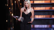 Miranda Lambert accepts the female vocalist of the year award on stage at the 48th annual CMA Awards at the Bridgestone Arena, Nov. 5, 2014, in Nashville, Tenn.