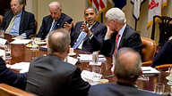 President Obama meets with business leaders at the White House, 14 Jul 2010