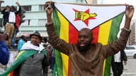 Protesters gather calling for Zimbabwean President Robert Mugabe to step down, in Harare, Zimbabwe, Nov. 18, 2017.