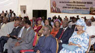 (First row R-L) National Assembly's president Mamadou Seck, Minister of the Connectivity Alassane Dialy Ndiaye, State Minister Mamadou Diop de Croix, Environment Minister Djibo Leyti Ka, (Second row R-L) Minister for Family and women's organizations