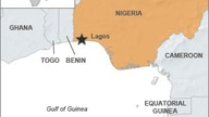 A map showing the Gulf of Guinea off Africa's west coast.