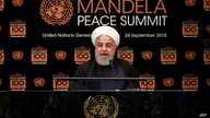 Iran's President Hassan Rouhani addresses the Nelson Mandela Peace Summit in the United Nations General Assembly, at U.N. headquarters, Monday, Sept. 24, 2018.