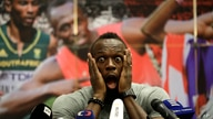 Jamaica's sprinter Usain Bolt grimaces during a press conference prior Golden Spike Athletic meeting in Ostrava, Czech Republic, Monday, June 26, 2017. Bolt will compete in the 100 meters at the Golden Spike on Wednesday, June 28, 2017.