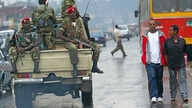 FILE - Members of the Ethiopian army patrol the streets of Addis Ababa, Ethiopia, June 10, 2005. Thursday, a confrontation in the town of Soda in the country's restive Oromia region resulted in the shooting death of four civilians at the hands of Eth