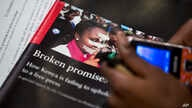 Copy of CPJ report on the state of press freedom in Kenya, at a press conference in Nairobi, July 15, 2015.