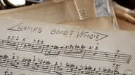 """An original handwritten song by Lionel Hampton titled """"Hamp's Boogie Woogie"""" is seen at the Colored Musicians Club in Buffalo, New York, Jan. 14, 2005."""