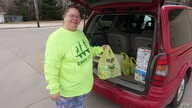 Elleen McLaughlin, who works in a nursing home, supplements the food she grows in rural west-central Illinois with what she can buy at places like the Dollar Store.
