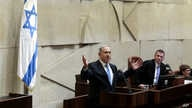 FILE - Israeli Prime Minister Benjamin Netanyahu is seen speaking in the Knesset in Jerusalem in a May 14, 2015, photo.