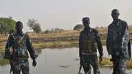 Police officers patrol in Kiir Adem in South Sudan, where six policemen were killed at the weekend when nomads from Sudan raided the community. (Courtesy)