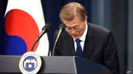 South Korea's new President Moon Jae-In speaks during a press conference at the presidential Blue House in Seoul, May 10, 2017. Experts see Moon and U.S. President Donald Trump on a potential collision course.