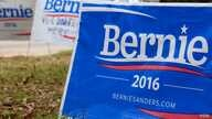 Signs stand in front of Bernie Sanders' campaign headquarters in Columbia, S.C. Sanders has mostly planned events outside the state prior to the Democratic primary on Saturday. (B. Allen/VOA)
