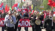 Communists celebrate May Day 2014 in Moscow.