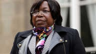 FILE - Central African Republic's Defense minister Marie-Noelle Koyara, is pictured at the French Ministry of Defense in Paris before a meeting with the French Defence Minister, Nov. 10, 2017.