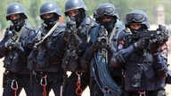 FILE - Indian soldiers of OCTOPUS, or Organization for Counter Terrorist Operations, participate in a parade in Hyderabad, India, June 2, 2015.