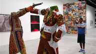 FILE - Installation by Nigerian artist Yinka Shonibare at the 52nd Biennale in Venice, Italy, June 2007.