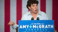 FILE - Democratic congressional candidate Amy McGrath speaks during a campaign event in Owingsville, Ky., Oct. 12, 2018.