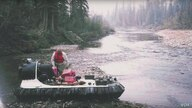 Alaskan John Sturgeon with his hovercraft.  The US Supreme Court is considering whether a US Park Service ban on hovercrafts means he can't operate it on waterways within national parks.